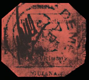 British Guiana One Cent rare stamp