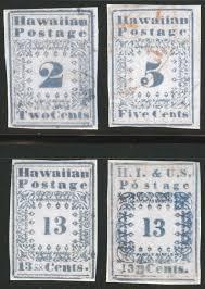 Image of Hawaiian Missionaries rare stamps