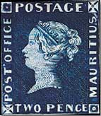 image of a Valuable Mauritius Post Office error stamp