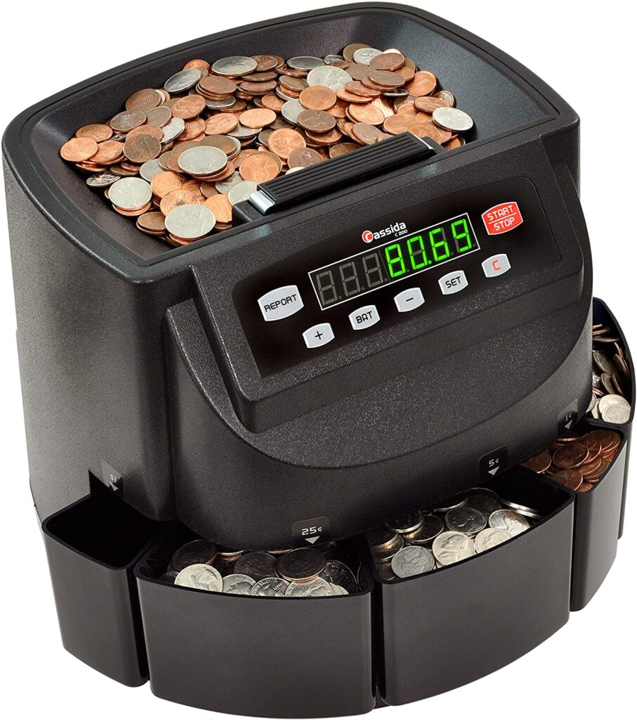 Image of Cassida C200 coin counting machine
