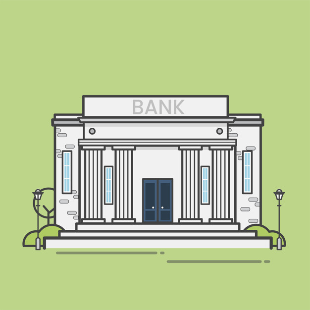 illustration of banks that sells stamps