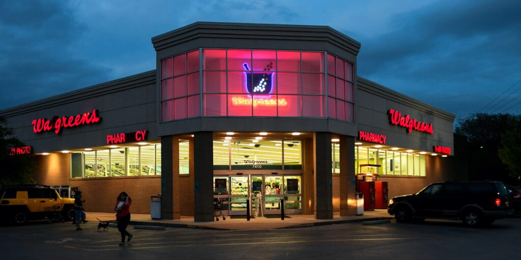 image of a Walgreens store that sells stamps - to show that Walgreens sell stamps